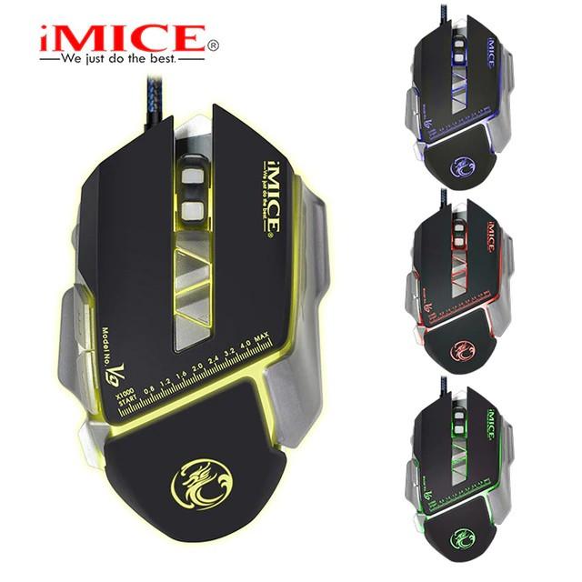 Chuột gaming có dây iMICE V9 Led đổi màu Độ nhạy max 3200 DPI