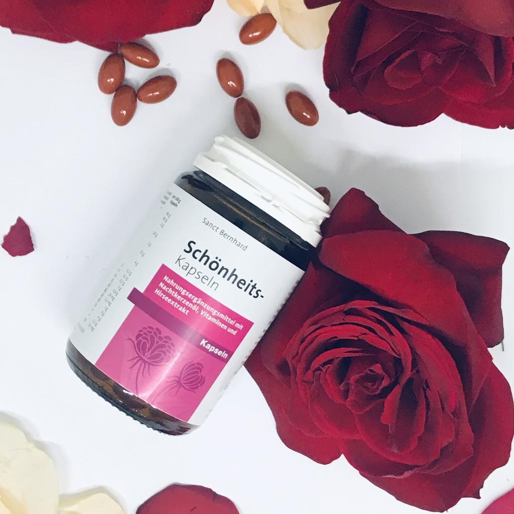 Tinh dầu hoa anh thảo ❤️ CHÍNH HÃNG👍 Schonheits Kapseln Sanct Bernhard Đức ❤️ giúp điều hòa nội tiết tố đẹp da khỏe
