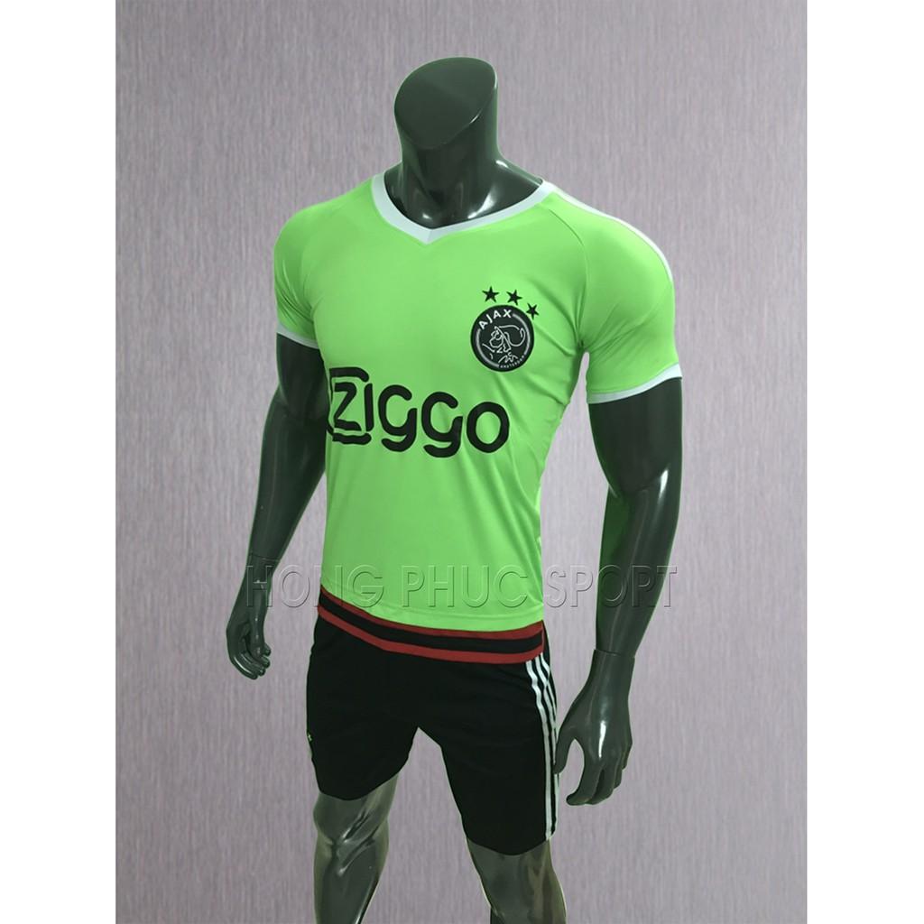 Bộ đồ đá bóng Ajax màu xanh chuối