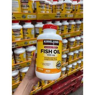 VIÊN UỐNG DẦU CÁ FISH OIL KIRKLAND 1000mg, 400 viên
