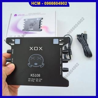 Bộ sound card XOX K10 KS108 chính hãng BH 12 tháng lỗi đổi mới thumbnail