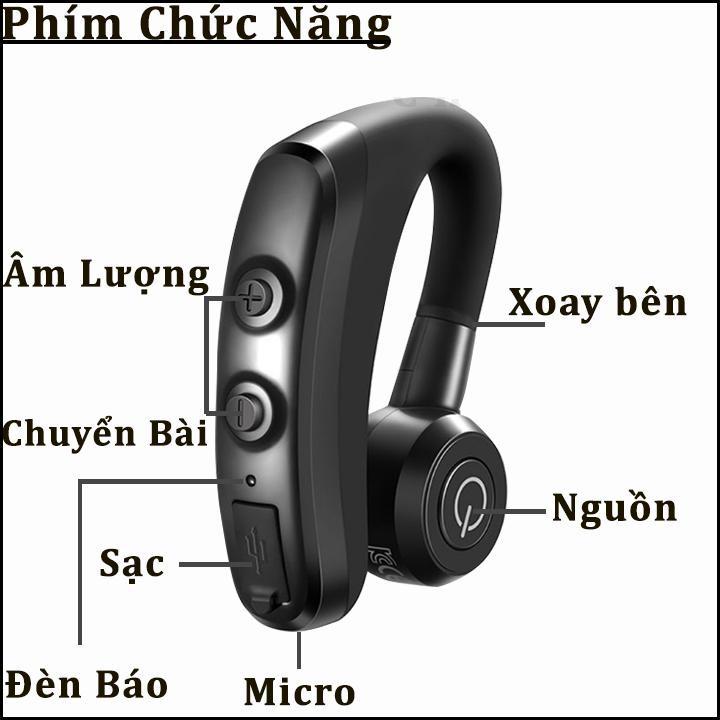 Tai nghe Bluetooth PKCB74 có Mic Đàm Thoại Âm thanh Chất lượng