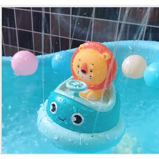 Đồ chơi nhà tắm cho bé _ du thuyền phun nước sư tử và thỏ con