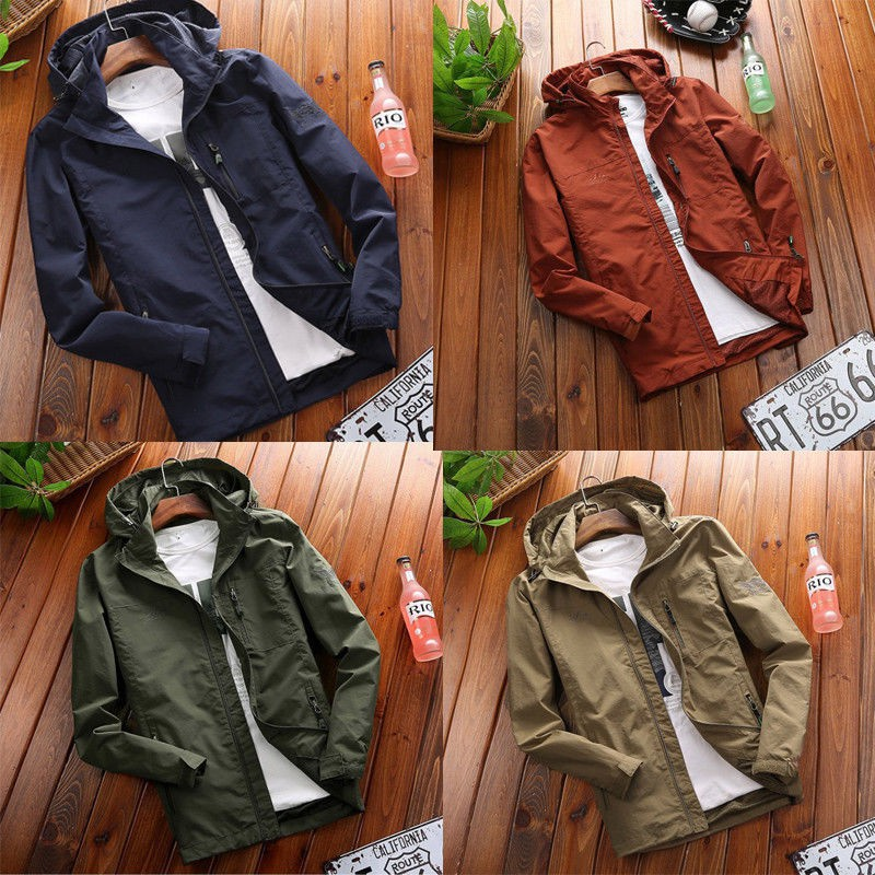 Men's Coat Solid Color Outwear SFGHOUSE