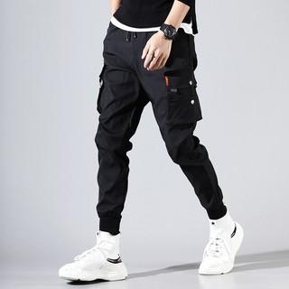 Quần dài jogger nhiều túi theo phong cách quân đội cho nam