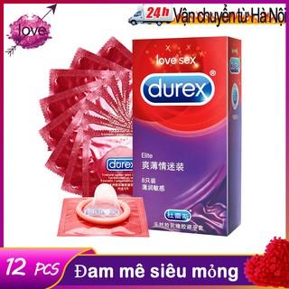 Durex 12cái/hộ Bao cao su thiên nhiên Tránh thai an toàn hơn cho nam giới Bao cao su dành cho người lớn dành cho cặp đôi