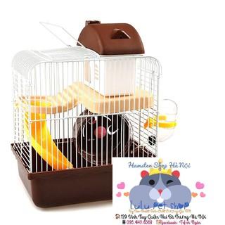 Lồng hamster Hoàng tử - lồng 2 tầng giá rẻ thumbnail