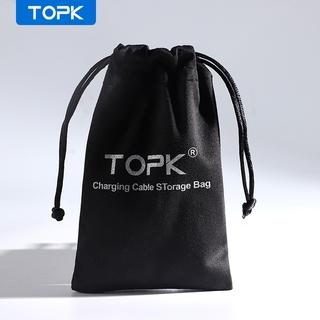 Túi đựng TOPK J03 bảo vệ dây cáp và phụ kiện điện thoại tiện dụng và bền