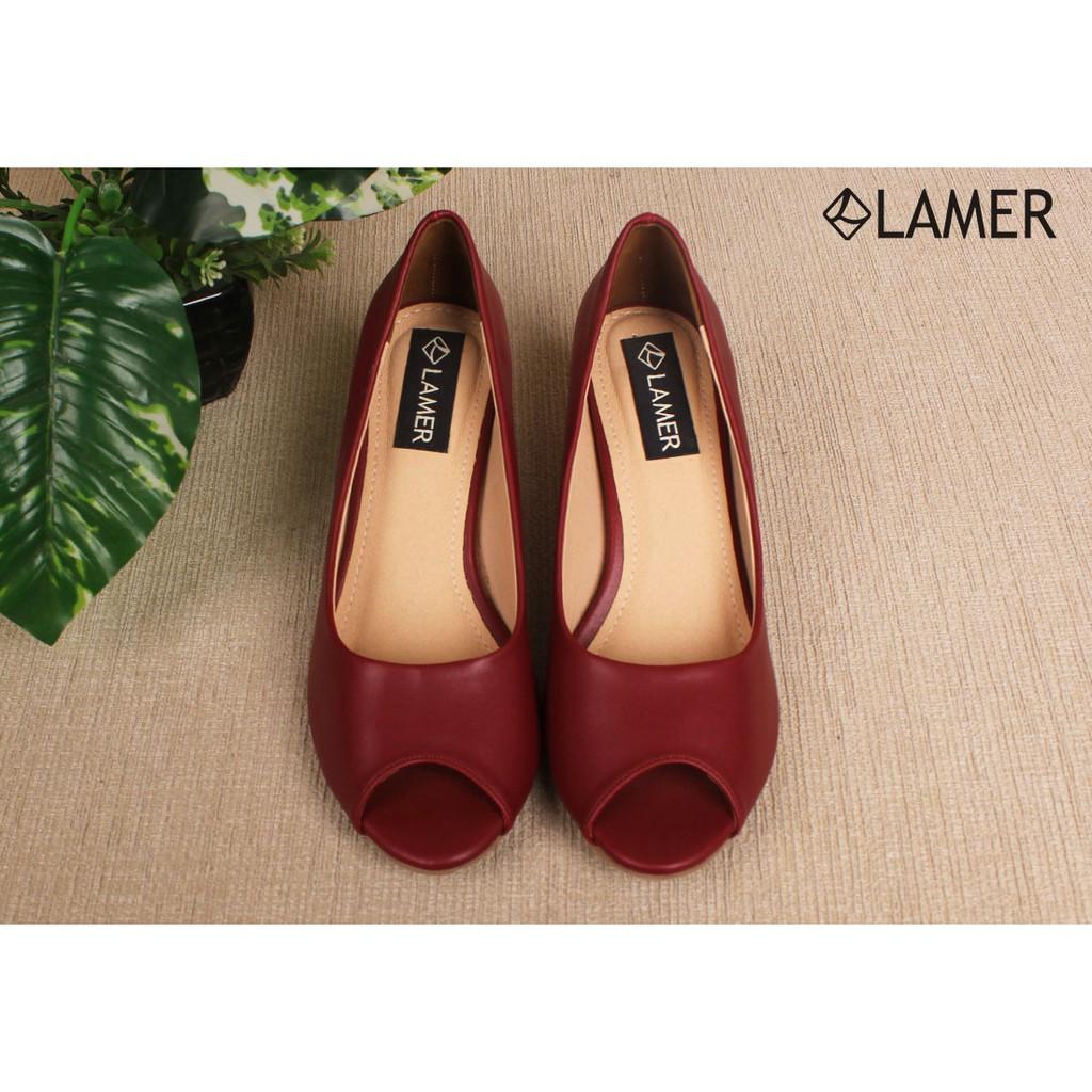 Giày nữ hở mũi - Đỏ. N6AE17H208-S2400