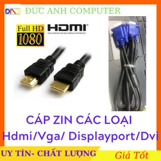Cáp Zin Các Loại : HDMI Zin, VGA Zin, DISPLAYPORT Zin, DVI Zin, Cáp Sata Zin, Cáp USB 3.0 Theo Máy- Mới 100% Chưa Xài