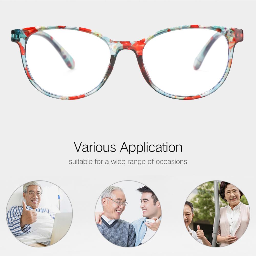 XIANSTORE Women Optical Eyewear Classic Printing Presbyopia Eyeglasses Anti-blue Light Glasses Vision Care Fashion Retro Vintage Computer Goggles