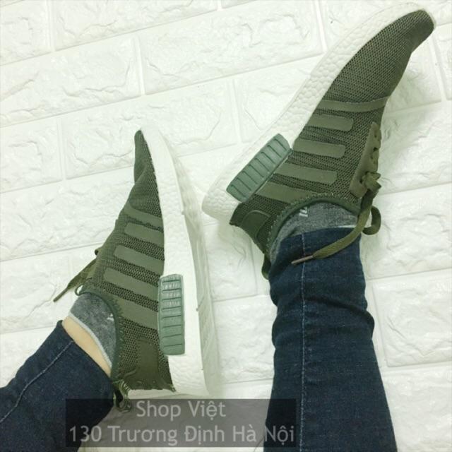Giày thể thao NMD màu rêu size 36-39