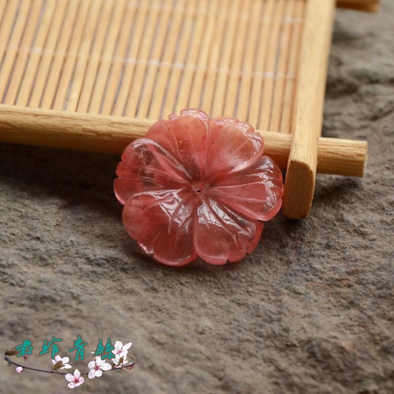 君绾青丝 Watermelon crystal carving 28MM 花花一价 古风玉簪花发簪饰品配件ahagt01