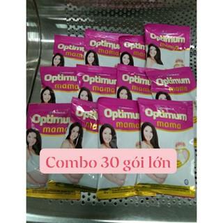 (TẶNG GỐI KÊ ĐẦU MỀM MẠI HOẶC TÚI VÃI) Combo 30 gói sữa bầu Optimum Mama Gold dạng gói lớn 43g gói
