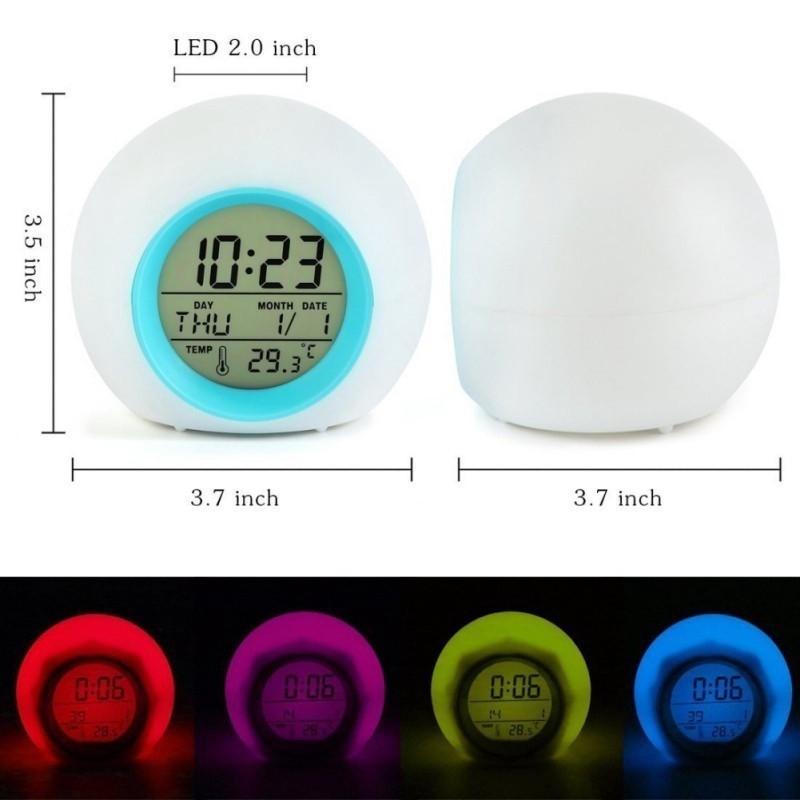 Đồng hồ báo thức điện tử để bàn có nhiều màu sắc để lựa chọn