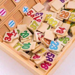 Bảng học toán bằng gỗ