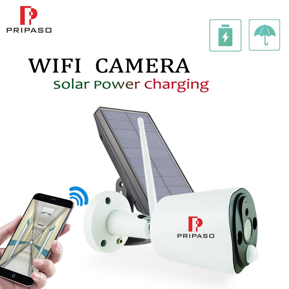 1080P WIFI กล้องพลังงานแสงอาทิตย์กลางแจ้งพลังงานต่ำแบบชาร์จกล้อง Home Security PIR กล้องกันน้ำที่มีแผงเซลล์แสงอาทิตย์