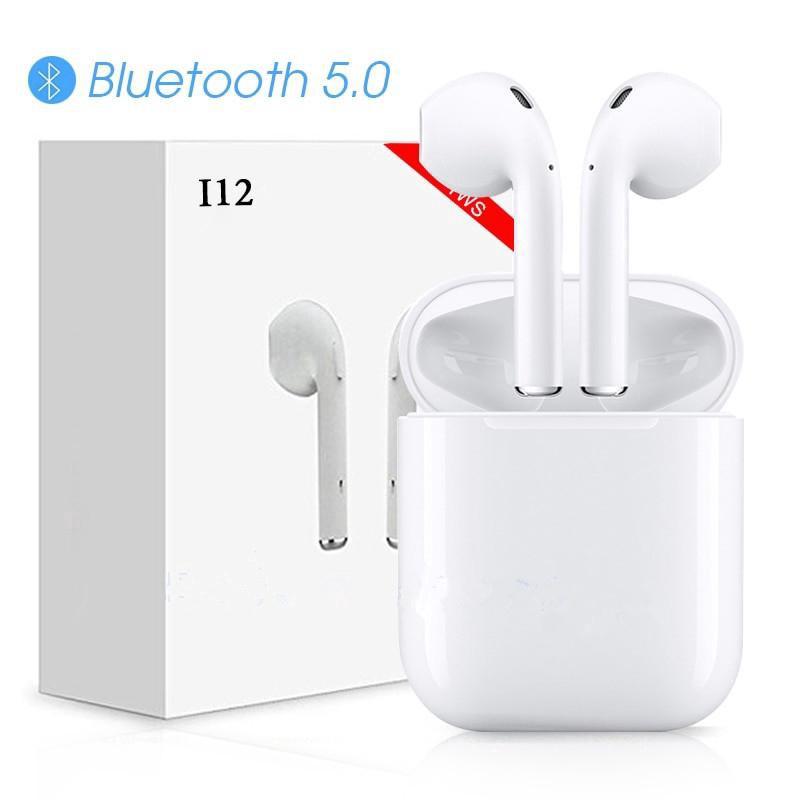 [CHÍNH HÃNG] Tai bluetooth i12_Tai nghe nhét tai blue