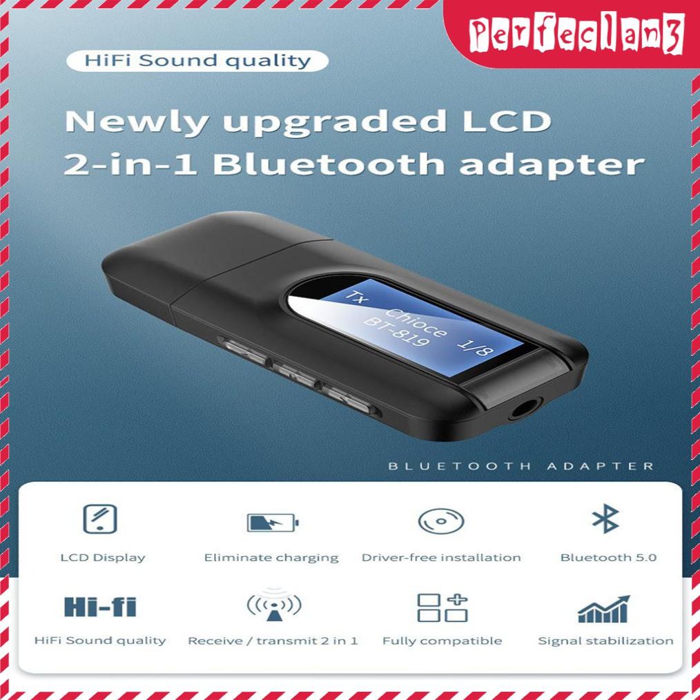 Usb Bluetooth 5.0 Dongle 3.5mm Dongle Cho Pc Tv Xe Hơi