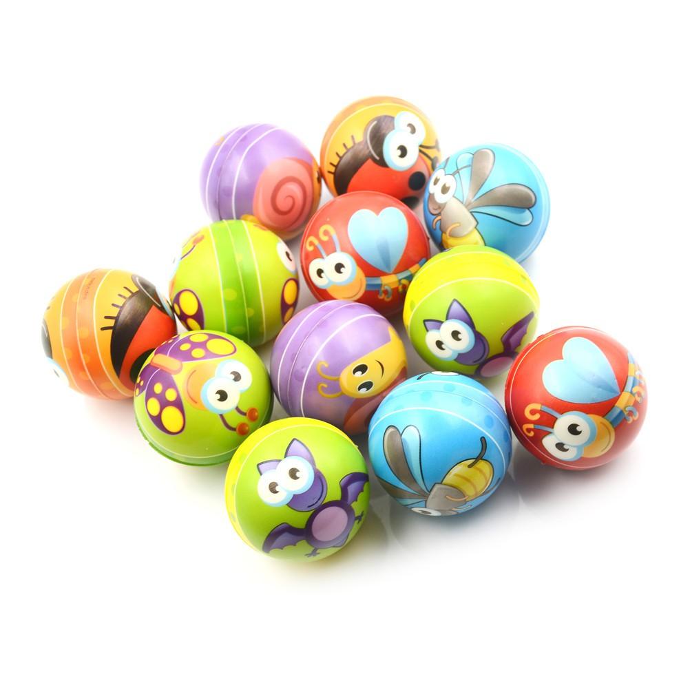 LOVEU* 1PCS 6.3cm Hand Wrist Exercise PU Rubber Toy Balls Snails Print Sponge Foam Ball