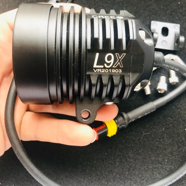 Đèn trợ sáng L9x , đèn pha led siêu sáng BH 6 tháng