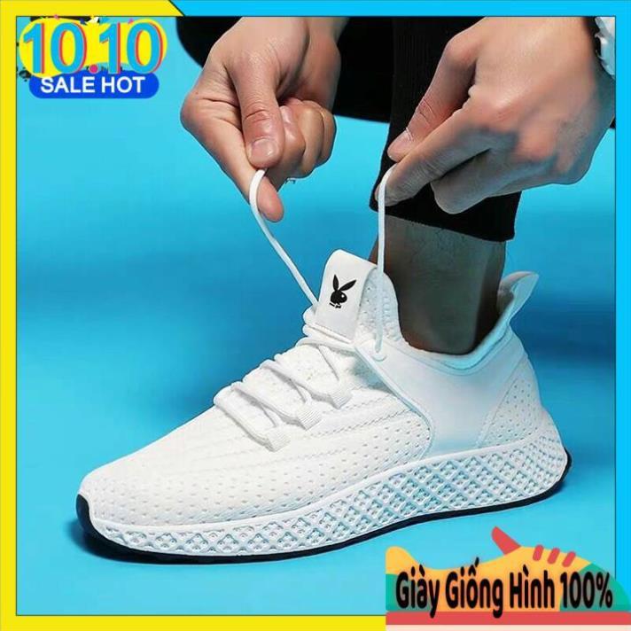 Giày Thể Thao Nam Trắng - Giày Nam Sneaker Siêu Đẹp ( GTT-45T/Trắng)