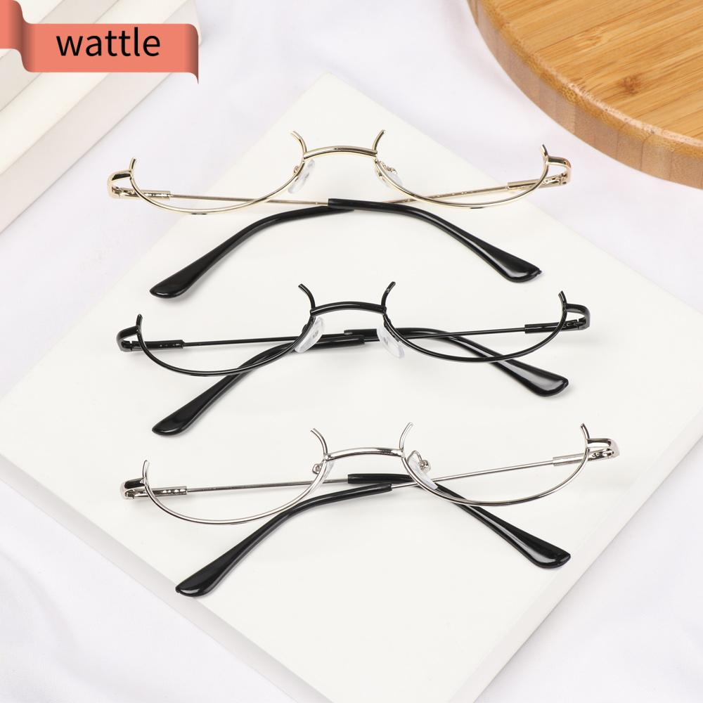 WATTLE Fashion Decoration Eyewear Cosplay Party Photography Eyeglasses Glasses Frame Myopia Metal No Lens Unisex Half Frames/Multicolor