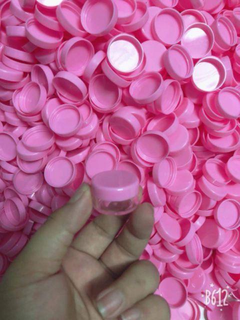 Hũ Nhựa Chiết Mỹ Phẩm 5g Đủ Màu