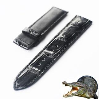 Dây da đồng hồ da cá sấu thật Việt nam vân lớn thumbnail