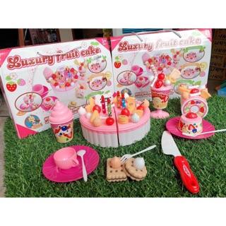 Set đồ chơi cắt bánh gato cho bé siêu nhiều phụ kiện