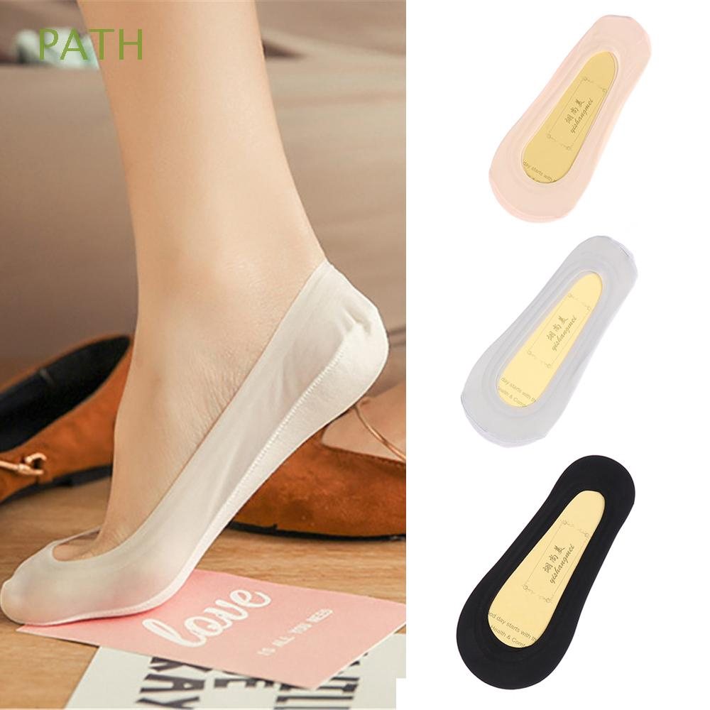 PATH Casual Women Low Cut Sweat-absorbent Ultrathin Invisible Boat Socks