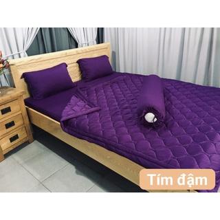 Ga - Drap Giường Lẻ Thun Mát Lạnh Lan Pham Bedding - Tím Đậm thumbnail