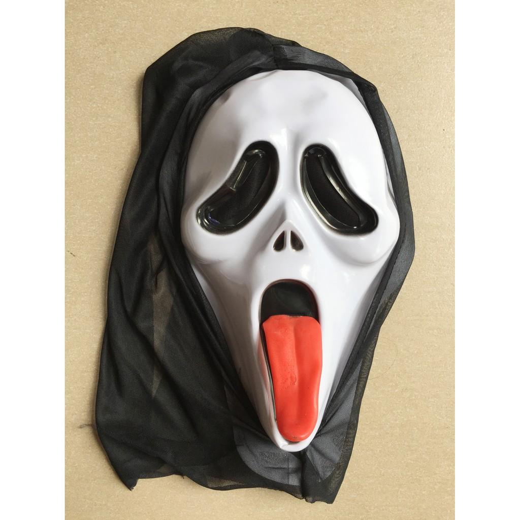 Mặt nạ hóa trang kinh dị Halloween có vải chùm - 3334366 , 585131675 , 322_585131675 , 55000 , Mat-na-hoa-trang-kinh-di-Halloween-co-vai-chum-322_585131675 , shopee.vn , Mặt nạ hóa trang kinh dị Halloween có vải chùm