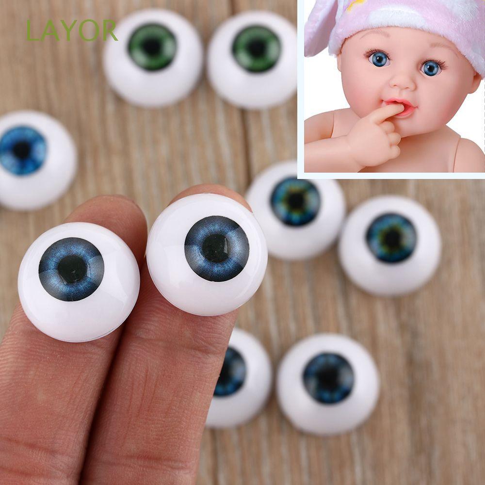 Cặp mắt búp bê chất liệu nhựa Acrylic đường kính 20mm 22mm 24mm tiện dụng