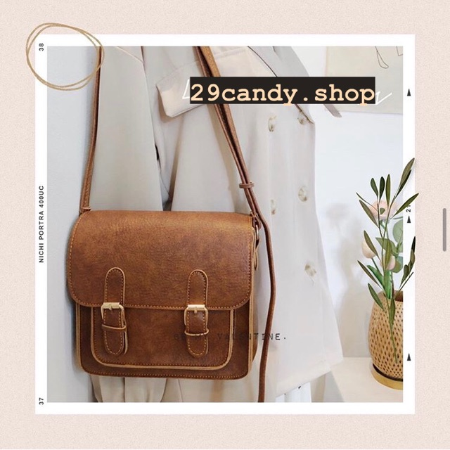 Túi Đeo Chéo Nữ Vintage Da (BEST SELLER) Stu Bags - Ulzzang 29candy.Shop
