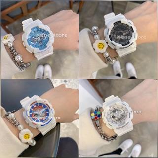 Đồng hồ nữ HSET dây nhựa trắng nhiều màu kiểu dáng năng động cho tuổi teen
