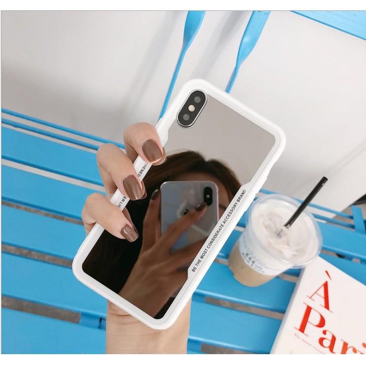 Ốp lưng iphone viền dẻo mặt lưng gương SALE cuối năm