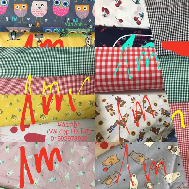 Set vải 9 mẫu
