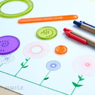 Spirograph Geometric Ruler Stencil Spiral Art Classic Kids Educational Toy