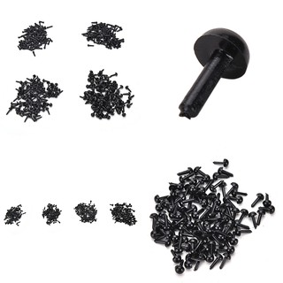 ❤❤100 Pcs/Set Plastic Black Eyes for Bear Doll Animal Puppet DIY Black Eyes 4