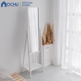 [Mã HLSNVV1212 giảm 15% đơn 99K] Gương Kệ Soi Toàn Thân Khung Gỗ OCHU - Mirror Shelf - White thumbnail