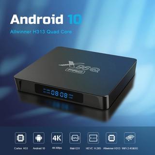 Android Box X96Q Pro, Android TV 10, Ram 2GB, Rom 16GB, Wifi 2 băng tần 2.4/5Ghz, CPU 4 nhân H313 mạnh mẽ, mức giá tốt