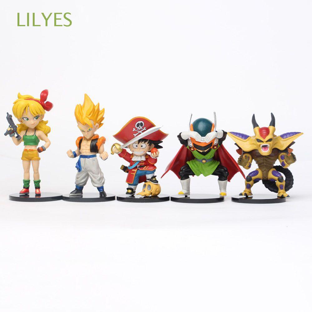 LILYES Gifts Dragonball Action Figures Anime Doll Ornaments Figurine Model Saiyan For Kids Miniatures Scultures 5pcs/set Son Goku Toy Figures