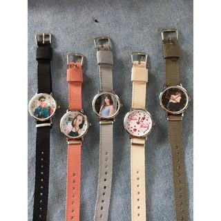 Đồng Hồ Thời Trang Nữ In Hình Theo Yêu Cầu Dây Dù Nhiều màu Sr4tdf85