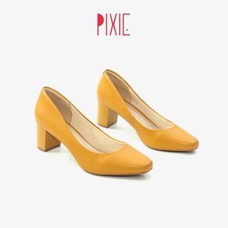 Giày Cao Gót 5cm Mũi Vuông Pixie X558