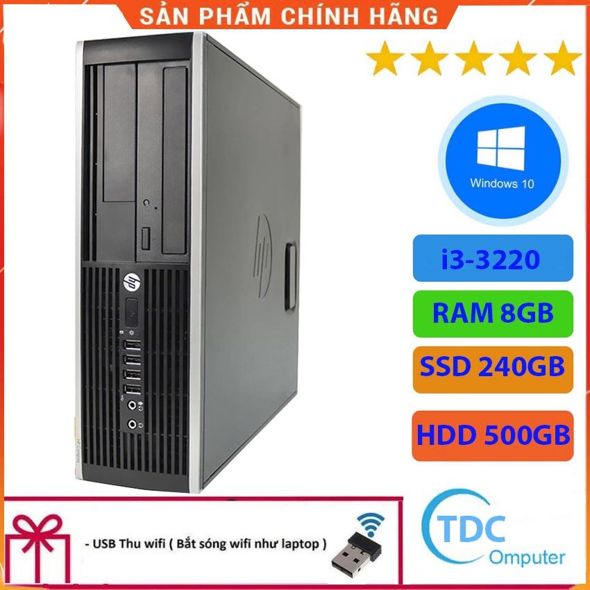 Case máy tính để bàn HP Compaq 6300 SFF CPU i3-3220 Ram 8GB SSD 240GB HDD 500GB Tặng USB thu Wifi, Bảo hành 12 tháng