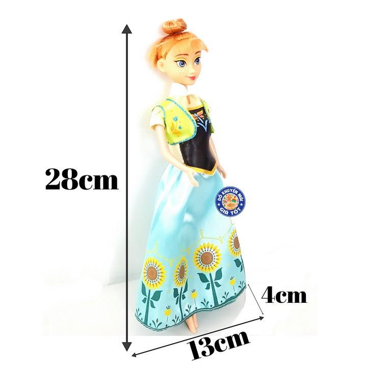 Búp bê cho bé gái công chúa váy xanh, mái ngố đáng yêu cho bé gái - 882B- 6 - Thị trấn đồ chơi