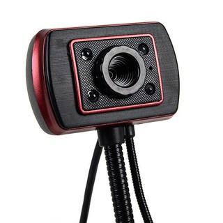 (Bảo hành 06 tháng) Webcam Chân Cao có mic dùng cho máy tính có tích hợp mic và đèn Led trợ sáng -Webcam máy tính để bàn