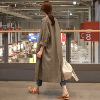 Cotton, linen, sunscreen, coat, female, 2018, spring and summer, Korean version,