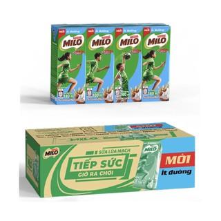 Thùng Thức Uống Lúa Mạch Uống Liền Nestlé MILO Ít Đường 48 hộp x 180ml